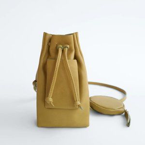 NWT LIMITED EDITION Olive Green Leather Bucket Bag